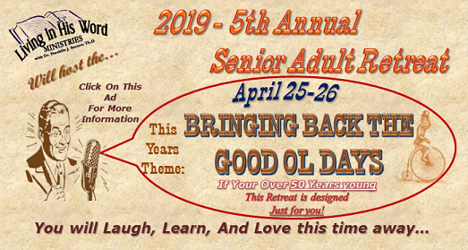 2019 Senior Adult Retreat Info
